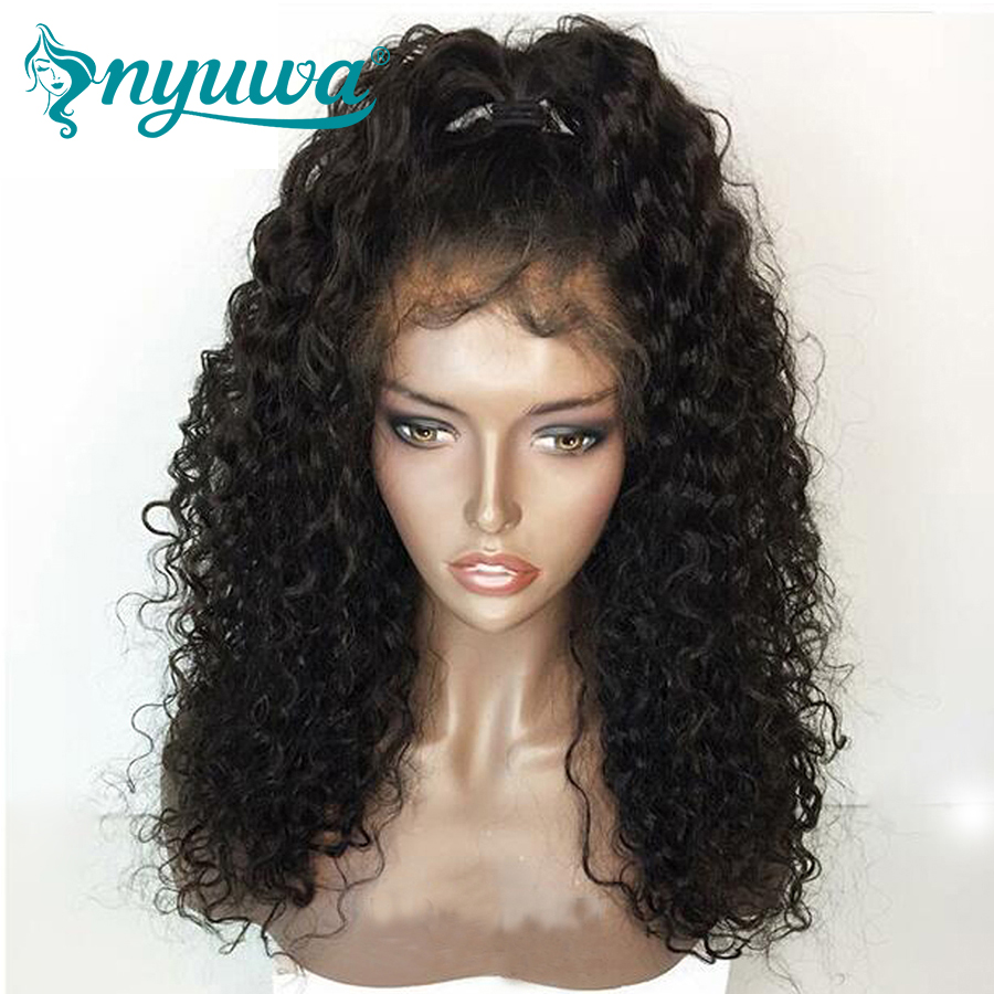 NYUWA 13x6 Lace Front Human Hair Wigs Pre Plucked Natural Hairline 150 Density Brazilian Remy Hair