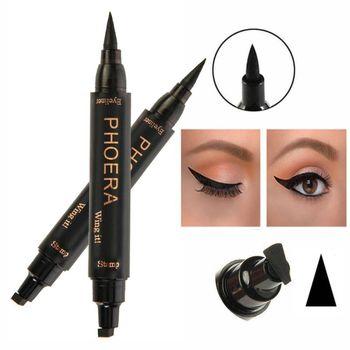 New 2 In1 Professional Women Eye Makeup Waterproof Stamps Makeup No Blooming Eye Eyeliner Pencil Cosmetic L9 Eyeliner