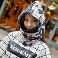 Men Women's Winter Outdoor Fleece Ski Bike Scarf Wind Stopper Ski Mask Hats Sport Thermal Warm Caps