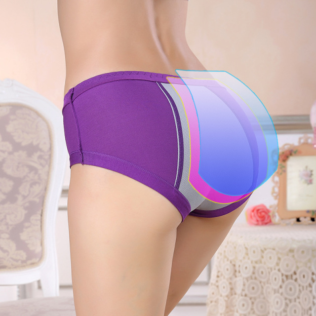 Menstrual Period Leak Proof Underwear Women Modal Cotton Panties Ladies Seamless Lengthen Panties Physiological Female