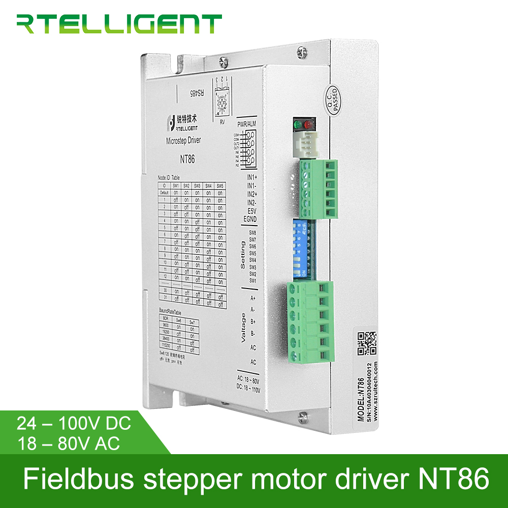 Rtelligent Factory Outlet Nema 34 NT86 485 Bus Control Digital Stepper Motor Driver via RS485 Network Modbus for assembly lineRtelligent Factory Outlet Nema 34 NT86 485 Bus Control Digital Stepper Motor Driver via RS485 Network Modbus for assembly line