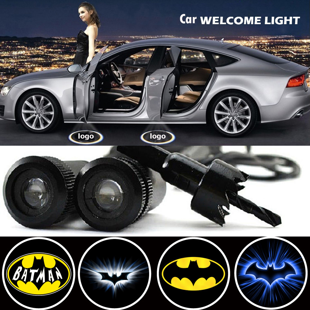 2 X Car Door Light Laser Welcome Ghost Shadow Projector Batman Logo Light For Ford Focus 2 Fiesta F150 Mondeo Transit Mustang