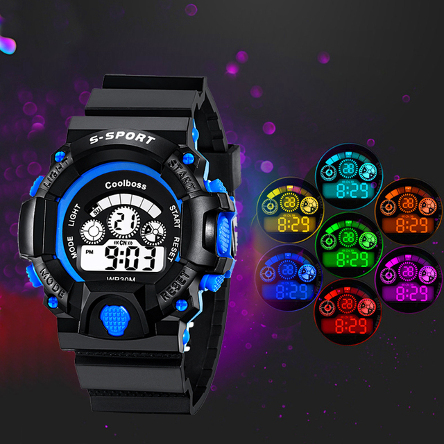 Fashion Sport Watch Children Kids Watches For Boys Students Electronic LED Digit