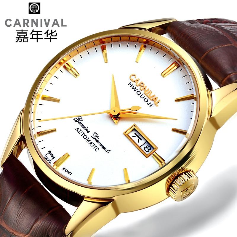 Switzerland Carnival Top Brand Luxury Men Watches Automatic Self-Wind Watch Men Sapphire reloj hombre relogio clock C8646G-3
