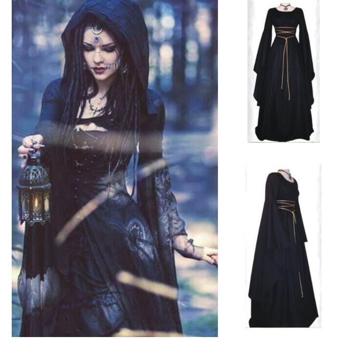 Women <font><b>Halloween</b></font> Costumes <font><b>Sexy</b></font> <font><b>Adult</b></font> Women <font><b>Witch</b></font> Long Party Dress Cosplay Female Costumes Holiday Uniforms image
