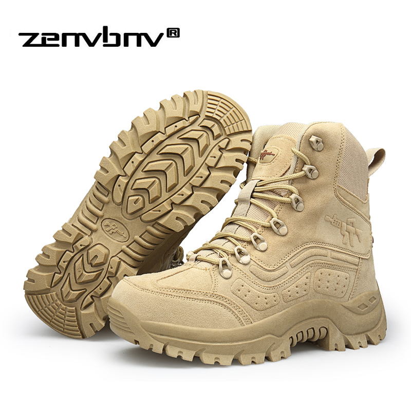Winter/Autumn Men Desert Tactical Military Boots size 39-46 Men Work Safety Shoes Army Boot Fashion Zapatos Ankle Combat Boots fashion army boots men military boots tactical combat boots waterproof summer winter desert boots size 35 46 ids658