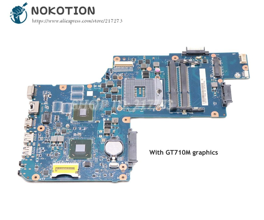 NOKOTION Laptop <font><b>Motherboard</b></font> For <font><b>Toshiba</b></font> <font><b>Satellite</b></font> C50 <font><b>C55</b></font> MAIN BOARD 15.6'' GT710M DDR3 HM76 H000061960 PT10FG DSC MB H000062020 image