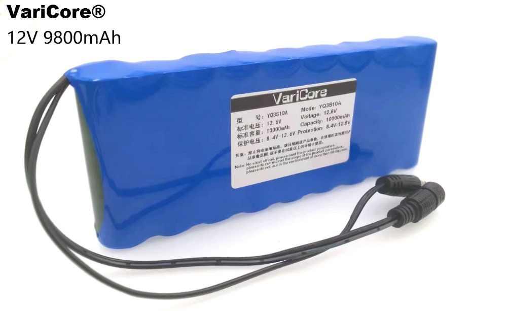 12 В 9.8Ah 9800 мАч 18650 Перезаряжаемые батареи 12 В литий-ионный Батарея обновления защиты совета видеонаблюдения монитор Батарея + 12,6 В 1A Зарядное устройство
