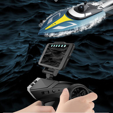 2.4G 25KM/H Large Remote Control Speedboat WIFI Camera Real-Time Mapping Sports Rowing Boat Summer Watership Adult Children Gift watership down