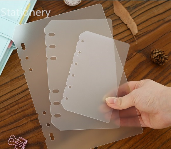 A5 A6 A7 PP Matt Frosted Plate For Protecting Inner Paper Spacer  Planner Filofax Organizer Divider Separator Board Page