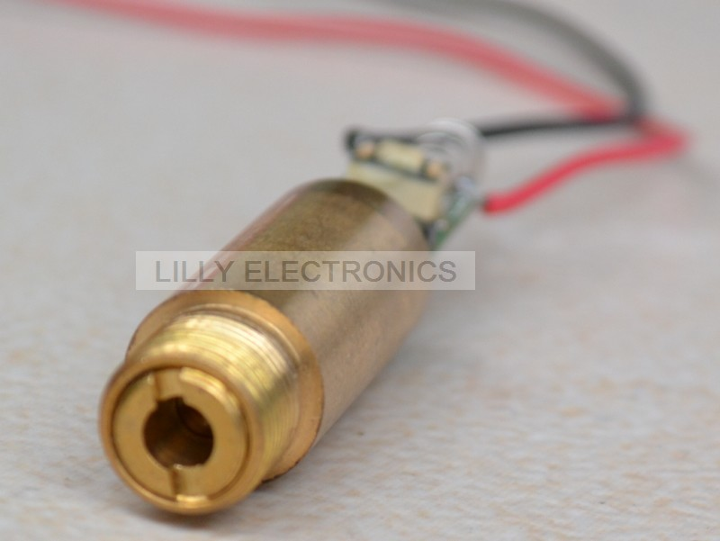 50mW 532nm 3.7-4.2V Green Laser Dot Module with red black wire lead