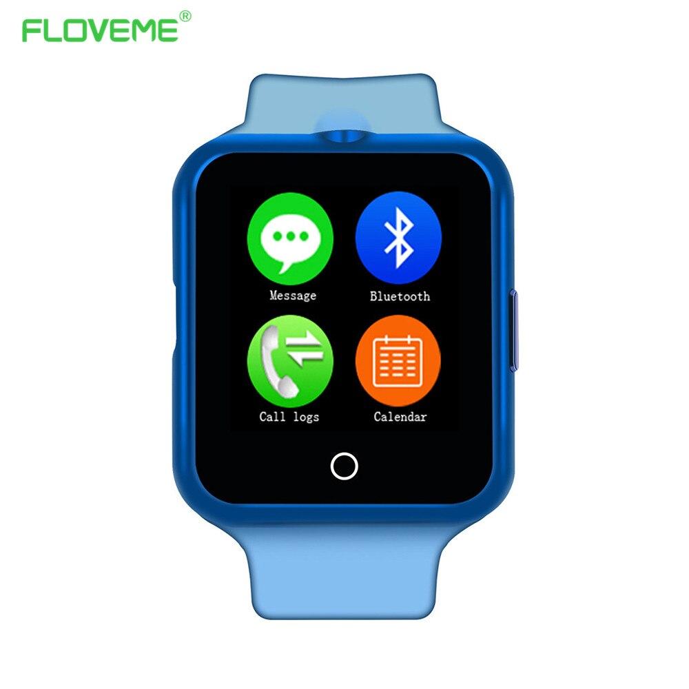 Floveme c2 nuevo deporte carpa cámara tarjeta smart watch para andriod portátil