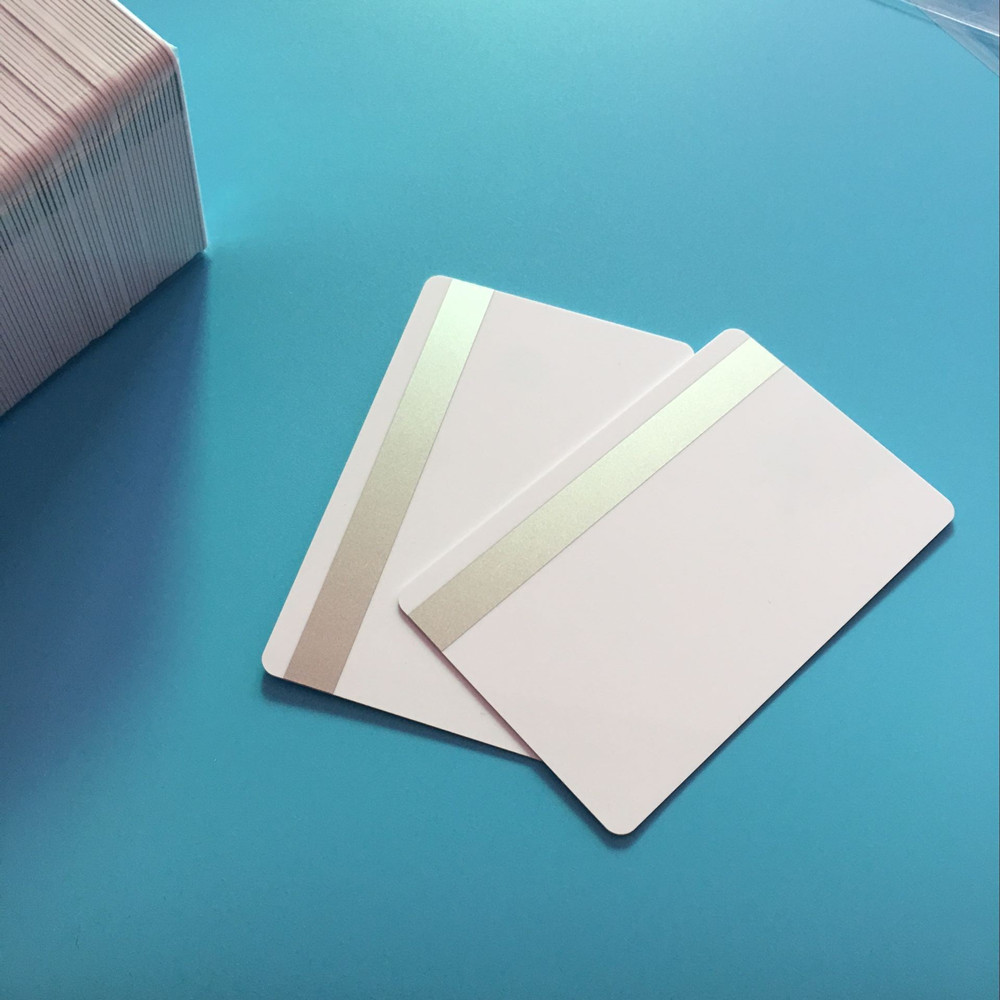 ISO 2750 3000 4000 OE White 2 Track Hi CO Sliver Magnetic Stripe Swipe Smart PVC Card 600PCS/ Pack 200pcs pack white contact sle4428 big chip smart ic card w hi co 3 track magnetic stripe by id printers