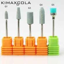 KIMAXCOLA 3/32 Green Ceramic Stone Burr Nail Drill Bit Cutter For Professional Manicure Electric Drills Accessory