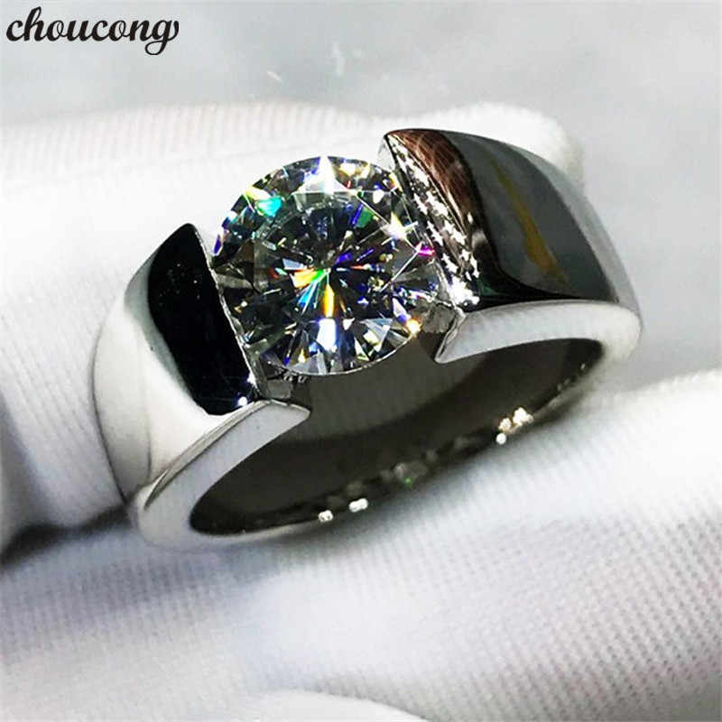 Choucong Solitaire Liefhebbers Beloven Ring 925 Sterling Zilver Aaaaa Cz Engagement Wedding Band Ringen Voor Vrouwen Mannen Party Sieraden