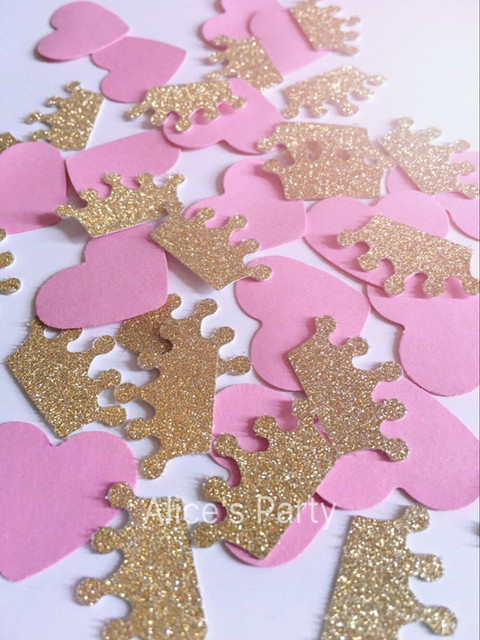 Handmade Gold Glitter Paper Crown confetti baby shower birthday ...