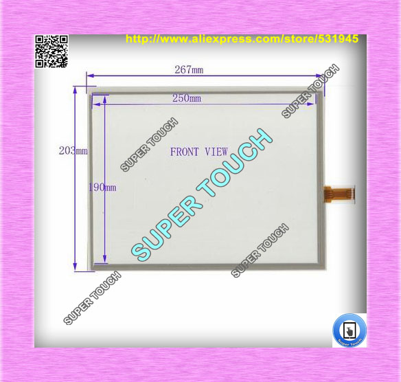 ФОТО With AntiStatic Shelding Bag NEW 12.1Inch ELO Touch Screen 4 wire resistive USB touch panel overlay kit 267*203 Free Shipping