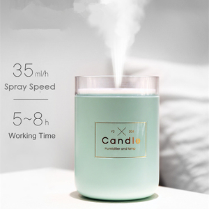 Image 4 - Hot Selling Creative Candle Humidifier 280ml Pure Type Warm Light Desktop Air Humidifier Purifier Home Office Car Mist Maker