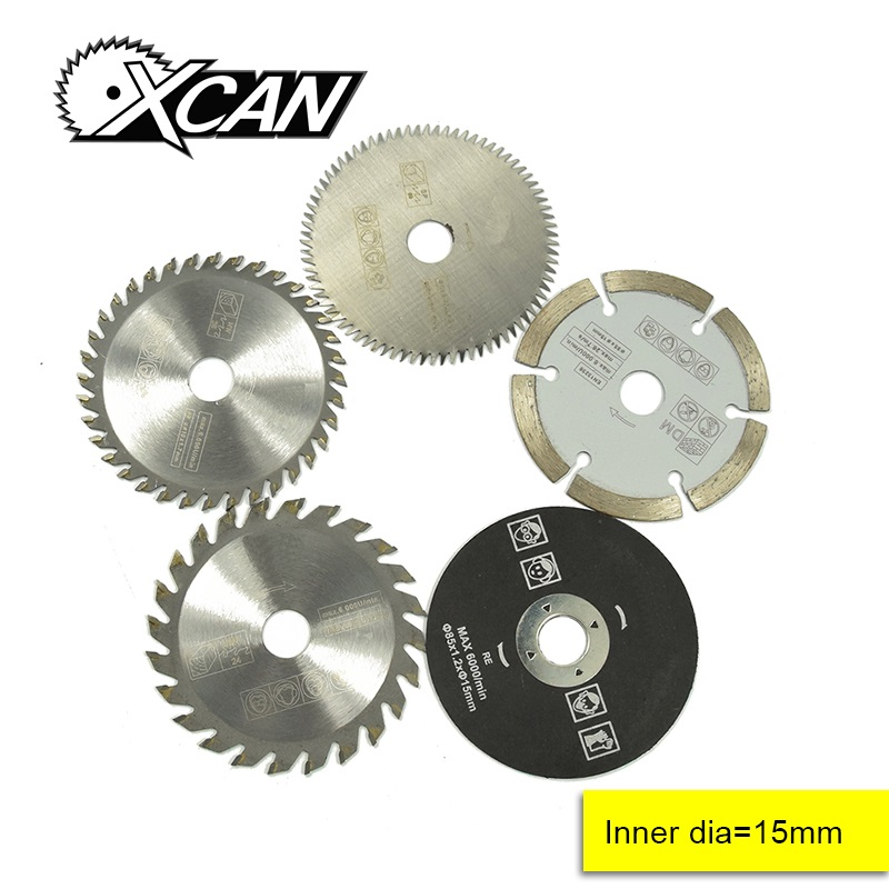 5pcs 85mm Mini Circular Saw Blade  Bore 15mm For Wood Cutting Power Tools Accessores Wood Saw Blade