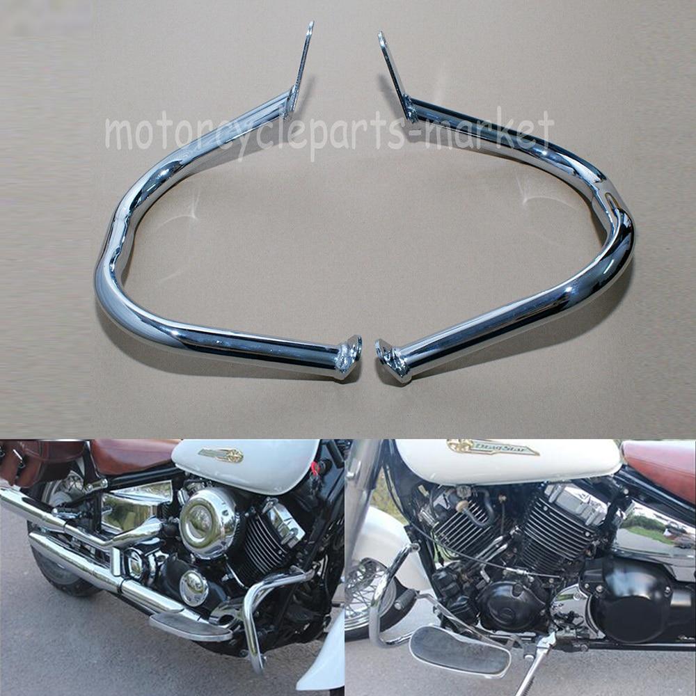 Chrome Engine Guard Highway Crash Bar Yamaha V-Star XVS400 XVS650 Custom Classic