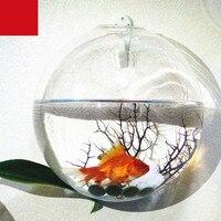 Подвесная стеклянная ваза для аквариума многоцелевой прозрачный Настенный декор стеклянные украшения для аквариума аксессуары для аквари...