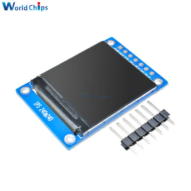 1.3 inch IPS HD TFT ST7789 Drive IC 240*240 SPI Communication 3.3V Voltage 4-Wire SPI Interface Full Color LCD OLED Display DIY 4