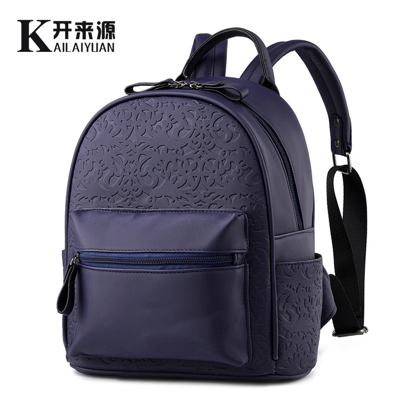 ФОТО Hot 2016 new brand design stylish black PU female backpack leisure travel bag preparatory school students Style Bag Brown Bag