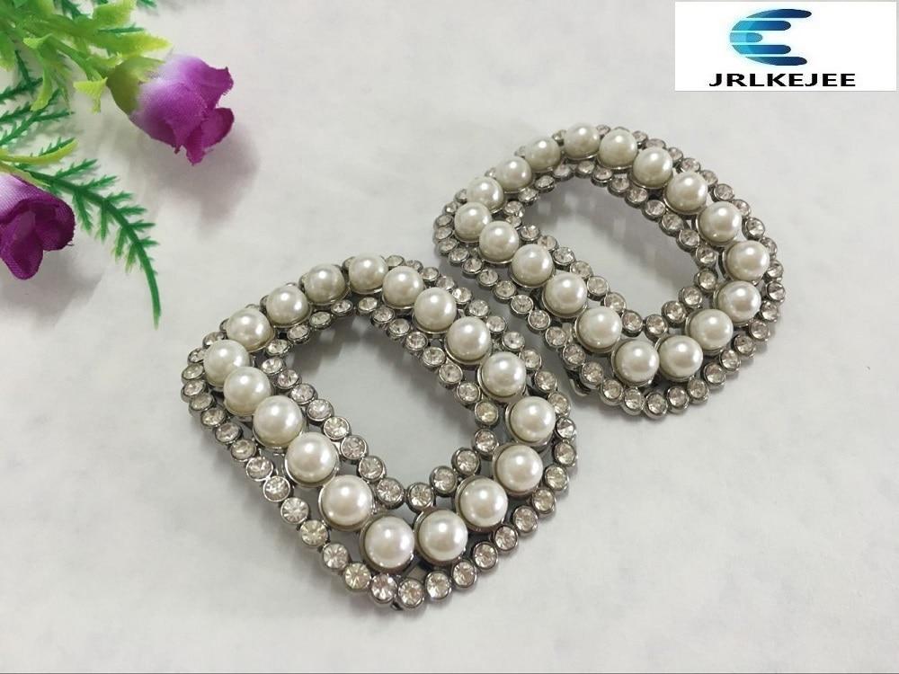 (10 Paare Pro Los) Perle Quadrat Pin Schnalle Schuhe, Schuhe Blumen, Zubehör üBerlegene Leistung