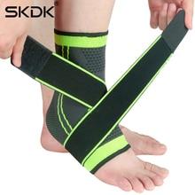 SKDK 1PC 3D Pressurized Bandage Ankle Support Wrist Sports Gym Badminton Ankle Brace Protector Foot Strap Sleeves Belt Elastic