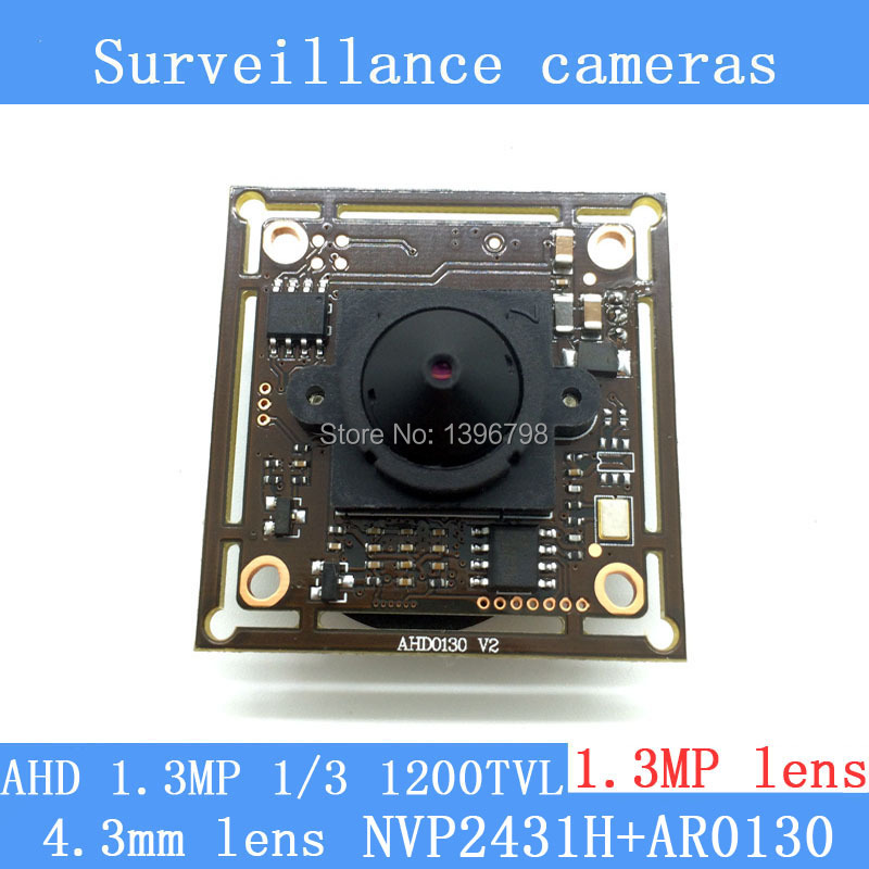 130W AHD coaxial AR0130 high-definition monitoring camera module 1/3 HD 1.3MP 4.3mm lens mini night vision surveillance camera hertz uno x 130 2 way coaxial
