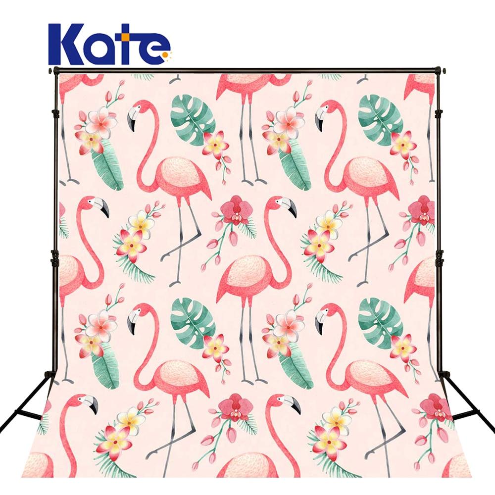 Fond de Photo KATE 5x7ft fond de photographie flamant rose toile de fond pour enfants toile de fond de dessin animé pour Studio Photo