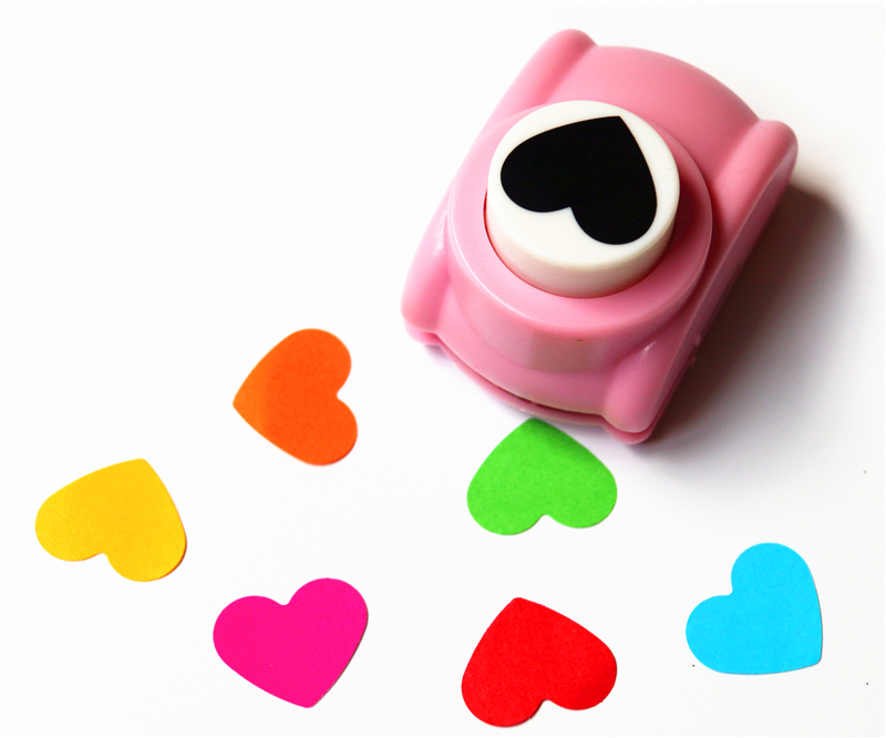 Freeship 1''/25mm Heart Shaped Paper Punch Hole Punch For Scrapbooking Scrapbook Cutter Perfurador Furadores Artesanais R393
