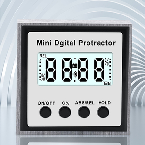 Image 2 - Electronic Protractor Digital Inclinometer 0 360 Stainless Steel Digital Bevel Box Angle Gauge Meter Magnets Base Measuring tool