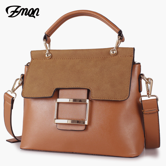 ZMQN Women Bag Vintage Shoulder Bags 2019 Buckle PU Leather Handbags Crossbody Bags For Women Famous Brand Spring Sac Femme C219 1