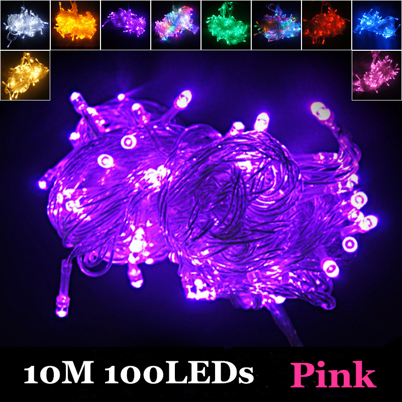 10M 100 LED Fancy Ball Lights Decorative Christmas Party Festival Twinkle String Lamp Garland 10Colors Free Shipping In From Lighting On