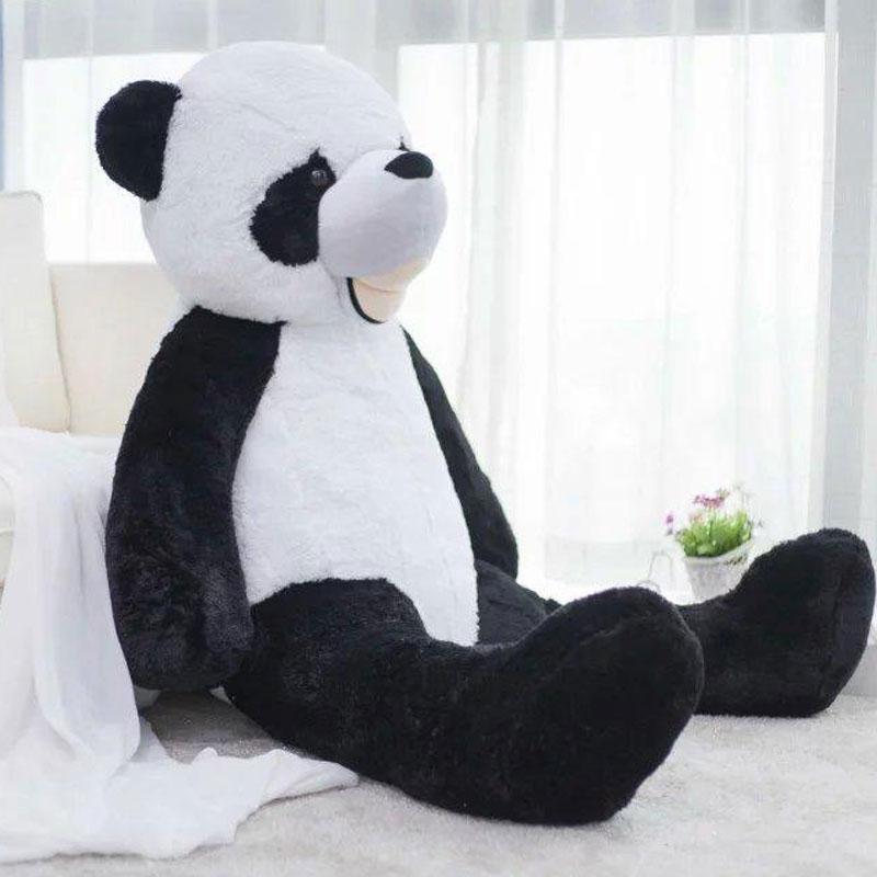 180CM Big Smile Panda Doll Plush America Panda Bear Stuffed Plush Kids Panda Bear Toys Bear Doll Plush Toy For Valentine's Gift lovely giant panda about 70cm plush toy t shirt dress panda doll soft throw pillow christmas birthday gift x023