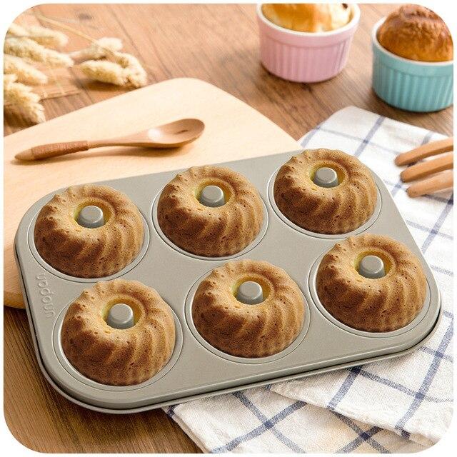6 Mit Hohl Keks Kuchen Donut Form Doppelseitige Antihaft Pfanne