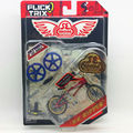 "Flick Trix Bmx Mini Finger Bike ""Golden red "" Alloy model bikes with wheels trick bars display stand bonus stickers and tools"