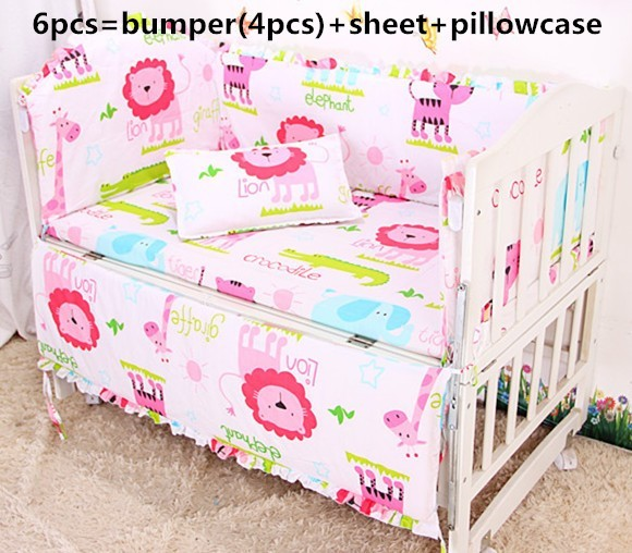 Discount! 6/7pcs With Filler Baby crib bedding sets Bed set cot Bed linen for children bumpers, duvet cover,120*60/120*70cm