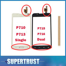 For LG Optimus L7 II 2 P715 P716 P710 P713 Dual Single Sim Optimus Touch Screen Digitizer Black White color With tape(China)