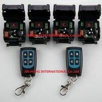 Novo AC 220 v 1 ch RF wireless switch controle remoto 4 receiver + 2 transmissor Com 4 botões|rf wireless remote control|wireless remote transmitter|rf wireless remote -
