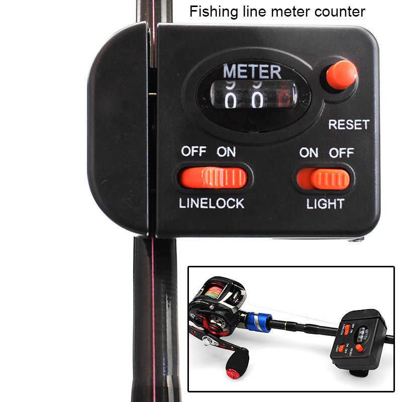 Sea Fishing Line Counter Clip On Rod Meter Saltwater Gauge Mechanical Jig Tool