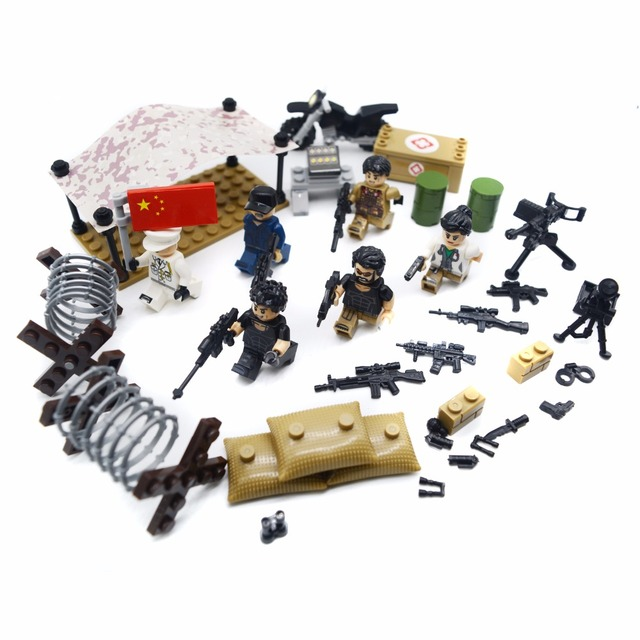 custom military building toys playset special mission army toys