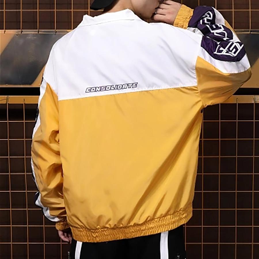 Manteau Streetwear Manteaux Zip Vêtements Mens Style Rue Hommes jaune Mince Lumière Bleu Vestes Coréenne 2019 Demi Et Oversize D'été xqwqA7a