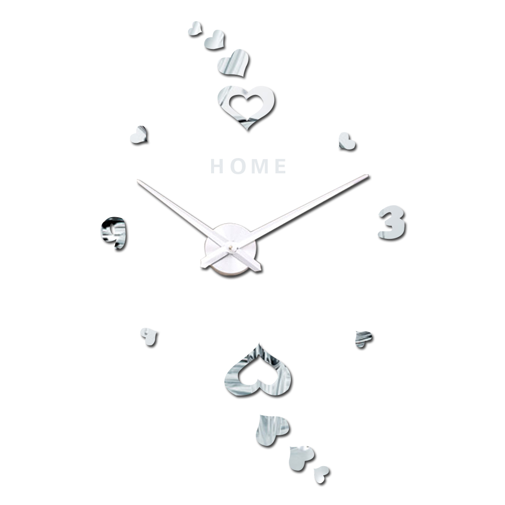 Home Letters Arabic Digital Heart Wall Clock Romantic Home Decor
