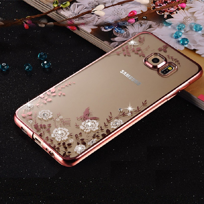 buy for samsung s7 case camera protect soft rose tpu flower sparkly glitter. Black Bedroom Furniture Sets. Home Design Ideas