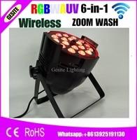 8 шт./лот Беспроводной WI FI 18x18 Вт LED PAR зум WI FI свет гладкая диммер матовый Пластик объектив Вентилятор охлаждения встроенный 2.4 г Беспроводной
