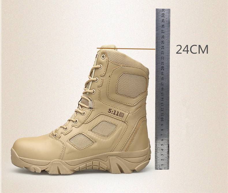 Brand Men\'s Boots Big Size Military boot Chukka Ankle Bot Tactical Army Male Shoes Safety Combat Mens Motocycle Boots (8)