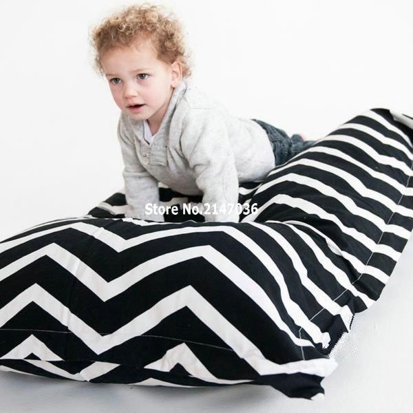 Zitzak Zwart Kind.Chevron Zitzak Stoel Zwart Wit Zigzag Matras Chair Chairs Chair