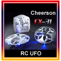 Dwi Dowellin Cheerson CX-31 2.4G 4CH 6 Axis RC UFO Afstandsbediening Helikopter RC Quadcopter 3D Eversie Met Headless modus